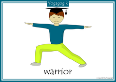 Yoga for Kids Flashcards Warrior