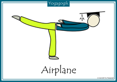 Kinderyoga Flashcards Airplane