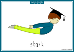 Yoga for Kids Flashcards Shark