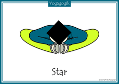 Kinderyoga Flashcards Star