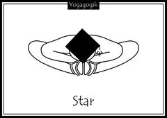 Kinderyoga Ausmalbilder Star