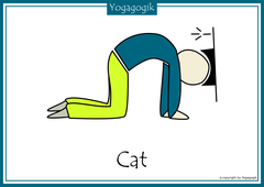 Kinderyoga Flashcards Cat