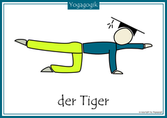 Kinderyoga Flashcards Tiger