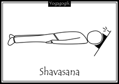 Kinderyoga Ausmalbilder Shavasana