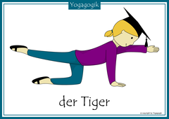 Kinderyoga Flashcards Tiger Yolanda