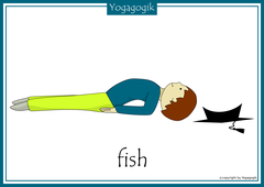 Yoga for Kids Flashcards Fish
