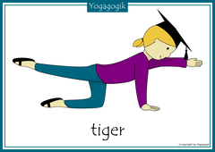 Yoga for Kids Flashcards Tiger Yolanda