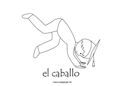 Kinderyoga Flashcards Caballo