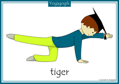 Yoga for Kids Flashcards Tiger