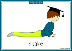 Yoga for Kids Flashcards Snake