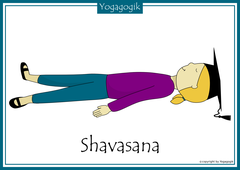 Yoga for Kids Flashcards Shavasana Yolanda
