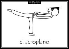 Kinderyoga Ausmalbilder Aeroplano
