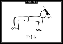 Kinderyoga Ausmalbilder Table