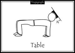 Kinderyoga Ausmalbilder Table