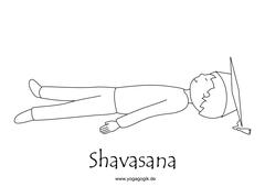 Kinderyoga Ausmalbild Shavasana
