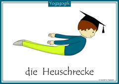 Kinderyoga Flashcards Heuschrecke