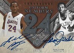 KOBE BRYANT & SAM JONES / Uniform Numbers - No. UN-JB  (#d 15/24)
