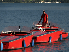 E-Boot steuern Wolfgangsee