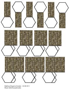 Mauern - Bambuspalisade