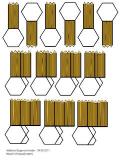 Mauern - Holzpalisade