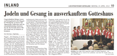 Lokalzeitung, Vaterland, 23. April 2012