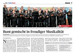 Lokalzeitung, Volksblatt, 27. Februar 2012