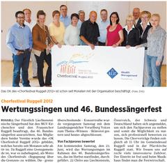 Lokalzeitung, Volksblatt, 22. Juni 2012