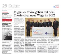 Lokalzeitung, Volksblatt, 26. Januar 2012