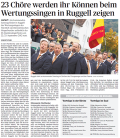 Lokalzeitung, Volksblatt, 20. Juni 2012