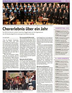 Lokalzeitung, Liewo, 29.Januar 2012