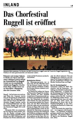 Lokalzeitung, Vaterland, 27. Februar 2012