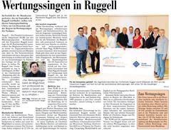 Lokalzeitung, Vaterland, 21. Juni 2012