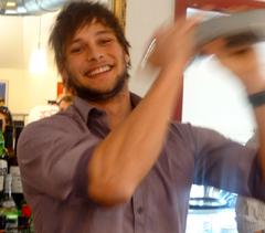 Mann mit Shaker