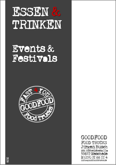 Titelseite GOODFOOD Preisliste - Essen & Trinken