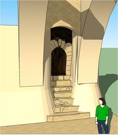 Poterne intra-muros en 3D