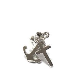 """schlichter grosser Schmuckanhänger aus 925 Silber gefertigter Symbolanhänger.Religiöser Schmuck.  """"Liebe & Glaube & Hoffnung""""  Kettenanhänger.  Die  einzelen Anhänger Herz-Kreuz-Anker mit einer Öse fest verbunden.  Ein besonders schönes Taufgeschenk!"""