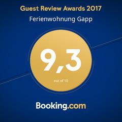 Wir haben den Guest Review Award mit einer super Bewertung erhalten!
