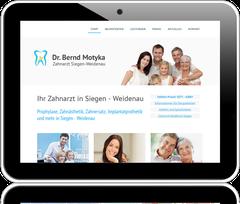 Website der Zahnarztpraxis Dr. Bernd Motyka in Siegen-Weidenau
