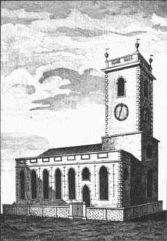 St John the Baptist from William Hutton 1783 An History of Birmingham, a work in the public domain.