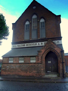 All Saints' School. The church stood to the left of this building on a site still now largely empty.