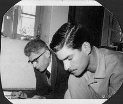 Ferry Marwi und sein Vater  Seyed Mahdi Marwi 1958 in Teheran