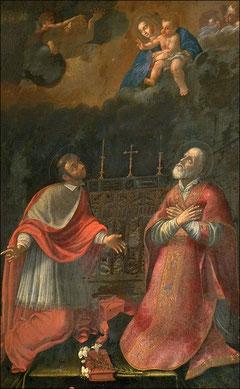 Charles Borromée et Philippe de Néri en prière - Chiesa Nuova
