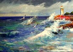 Il mare d'inverno. Opera di Giuseppe Faraone (Archivio)