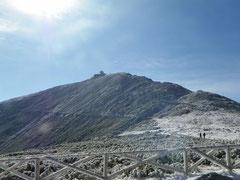 Blick auf den Gipfel der Schneekoppe
