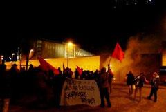 Demo foran Stammheim-fængslet