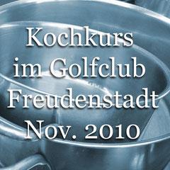 Kochkurs in der clubeigenen Gastronomie, 2010. Golf-Club Freudenstadt. Foto Rainer Sturm stormpic.de