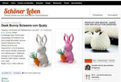 Schöner Leben, desk bunny scissors, qualy