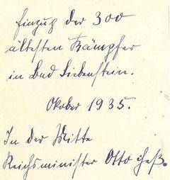 Rückseite zu obigem Foto - Fälschlicherweise wurde Otto statt Rudolf geschrieben.....