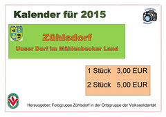 Verkaufsprospekt des Zühlsdorfer Kalenders