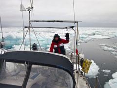 Skipper Laurent Braudey au Svalbard (2015)